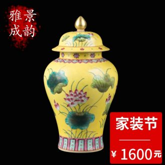 New Chinese blue and white porcelain of jingdezhen ceramics live long and proper cap tube bottle arranging flowers, vases, decorative crafts