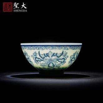 Santa teacups hand-painted ceramic kung fu ancient color MeiKaiWuFu light sample tea cup single cup of jingdezhen tea service master