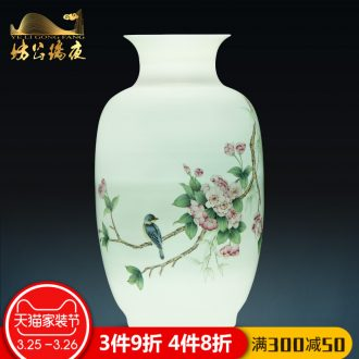 Jingdezhen ceramics hand-painted blue and white porcelain vases, flower arrangement sitting room place TV ark of Chinese style household ornaments