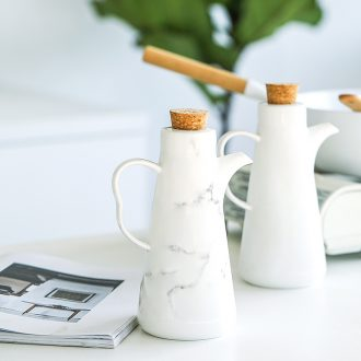 Ceramic sauce seasoning cans Nordic box oil can suit combination kitchen seasoning receive home seasoning oil