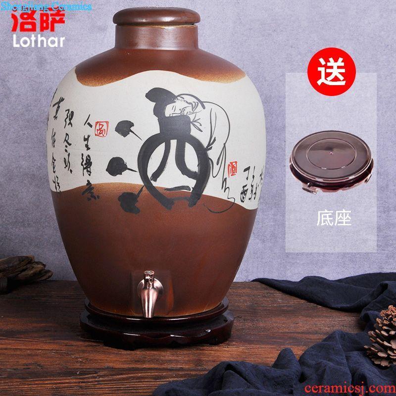 Jingdezhen ceramic foam jar 10 jins 20 jins 30 jins 50 kg archaize pot it barrels of wine bottle liquor altar