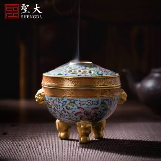 Santa teacups hand-painted porcelain dish landscape ceramic kung fu master lamp sample tea cup all hand of jingdezhen tea service