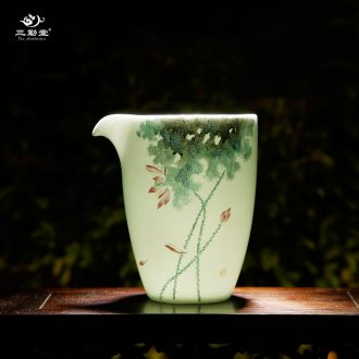 Kung fu tea cup three frequently hall jingdezhen ceramic tea cup cup sample tea cup kiln cup cup S41083 master