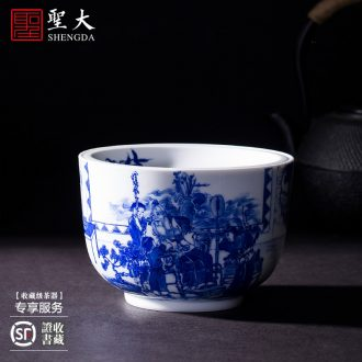 Holy big ceramic tea pot hand-painted colored enamel kam to live long and proper wake receives POTS of jingdezhen tea service by hand
