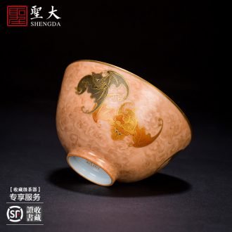 The big buy blue and white flower leaf veins hand-painted ceramic cover color ink agate red landscape cover all hand of jingdezhen tea service