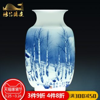 Jingdezhen ceramics vases, flower arranging hand-painted pastel spring brightness porch place Chinese style household arts and crafts
