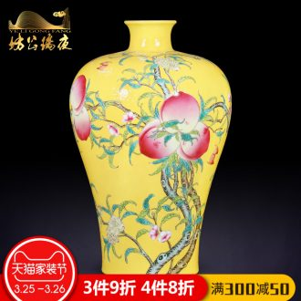 Jingdezhen ceramics furnishing articles hand-painted ChunManQianKun vases, sitting room of Chinese style household decorations TV ark furnishing articles