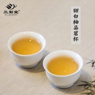 Three frequently tureen tea cups Jingdezhen ceramic handless small kung fu tea set kiln white three bowl S11008 cups