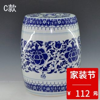 Jingdezhen ceramic home sitting room porch place flower vase Chinese arts and crafts porcelain table ornament