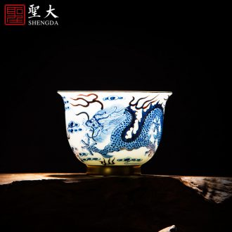 Santa all hand jingdezhen ceramic masters cup hand-painted pastel lick their offspring teacup kung fu tea bowl