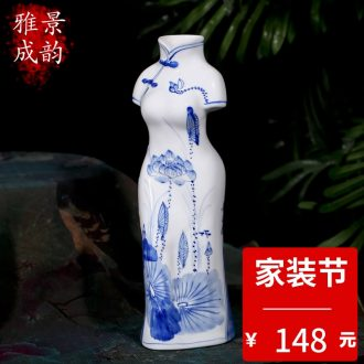 Jingdezhen decorative hand-painted porcelain rhyme furnishing articles quietly elegant of modern fashion crafts and gifts furnishing articles