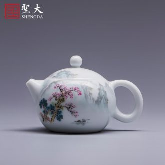 The big three red colour is blue and white alum tureen teacups hand-painted ceramic tea out of the water bowl of jingdezhen tea service