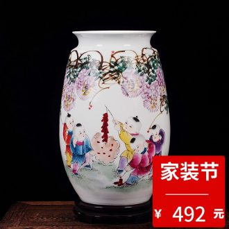 Jingdezhen ceramic new Chinese blue and white in extremely good fortune sitting room porch porcelain vase household adornment furnishing articles
