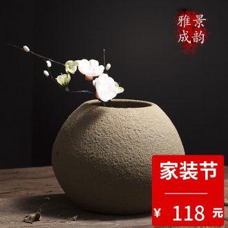 Jingdezhen ceramic household TV ark flower arranging decorative arts and crafts porcelain vase furnishing articles Chinese creative restaurant