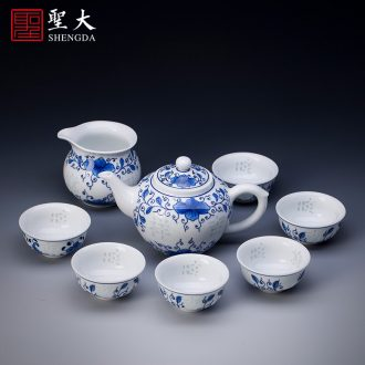 Santa teacups hand-painted ceramic kungfu pastel lad sample tea cup cup all hand of jingdezhen tea service master cup