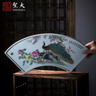The big blue and white landscape tea density mesh filter jingdezhen ceramic) hand-painted kung fu tea accessories