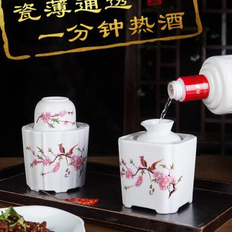 Travel tea set suit portable package a pot of two glass ceramic crack 4 cups of outdoor tourism kung fu tea set