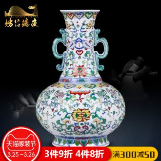 Jingdezhen ceramics furnishing articles hand-painted vases, flower arranging decorations and new Chinese style household decoration