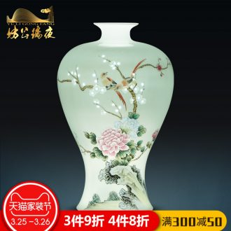 Jingdezhen blue and white porcelain vase furnishing articles ceramic blooming flowers flower arrangement sitting room adornment Chinese style wedding gift