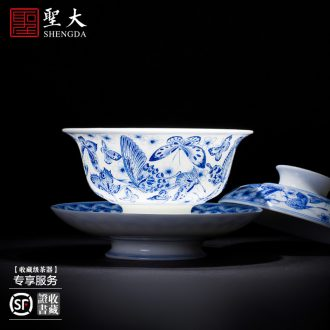 The big ceramic curios Colored enamel paint James t. c. na was published grain cup group master cup of jingdezhen tea service kung fu tea cups