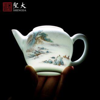 Holy big laughs a ceramic tea pot hand-painted colors - tank receives all hand jingdezhen tea service
