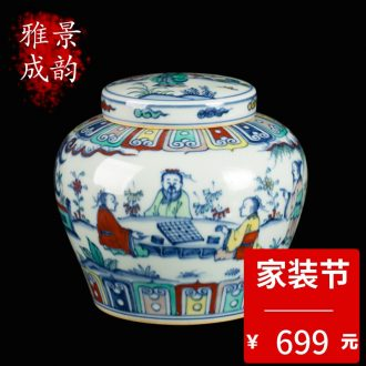 Blue and white porcelain of jingdezhen ceramics hand-painted plum flower tea pot home sitting room adornment teahouse tea pot furnishing articles