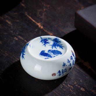St large ceramic three tureen MeiWen teacups hand-painted blue ice tea bowl full manual jingdezhen kung fu tea set