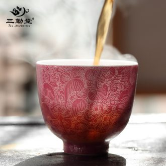 The three frequently your kiln stone gourd ladle pot of the teapot Jingdezhen ceramic kung fu tea tea ware S24004 single pot of filtration