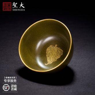 "Santa teacups hand-painted ceramic kungfu pastel ""land"" master cup all hand jingdezhen tea sample tea cup"
