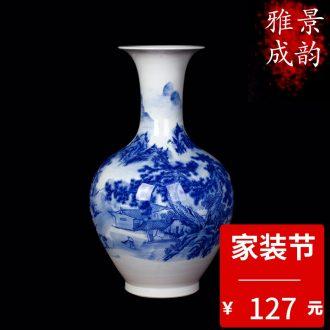 Jingdezhen ceramic crack glaze vase general household adornment furnishing articles of Chinese style living room porch craft porcelain