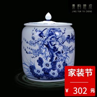 Blue and white porcelain of jingdezhen ceramics hand-painted vases furnishing articles flower arranging porcelain household act the role ofing is tasted antique Chinese style living room
