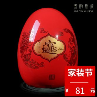 Jingdezhen chinaware bottle of flower vase and furnishing articles sitting room adornment the general pot of contemporary and contracted jewelry
