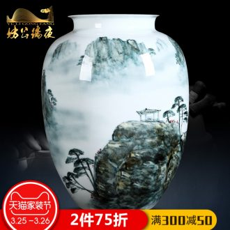 Jingdezhen ceramics hand-painted blooming flowers vases, flower arrangement, archaize process decoration of Chinese style household furnishing articles