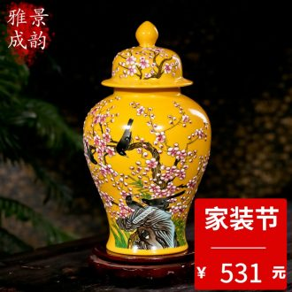 Jingdezhen porcelain ceramic Chinese blue and white porcelain vase sitting room adornment archaize of new Chinese style furnishing articles furnishing articles