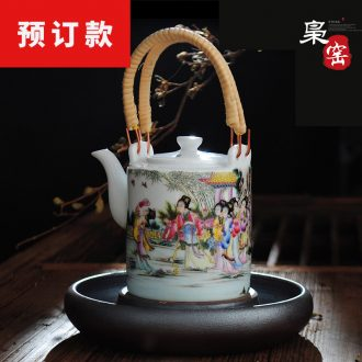 Jingdezhen hand-painted ceramic kung fu master sample tea cup cup cup single cup wire inlay enamel colour satisfied individual cups