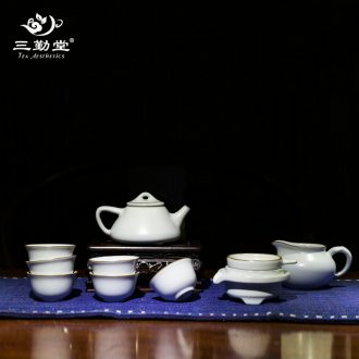 Three frequently hall your kiln xi shi pot kept the teapot household large single pot of jingdezhen ceramic tea teapot