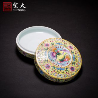 The big butterfly hand-painted ceramic tea bowl MeiWen snacks fruit bowl full manual jingdezhen blue and white ice tea with zero