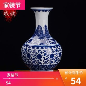Jingdezhen ceramic tea POTS household seal tank storage tank a large new Chinese style adornment furnishing articles
