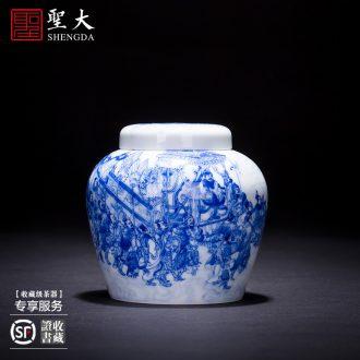 "Holy big ceramic tea pot hand-painted porcelain heavy industry ""yuan water official figure"" wake POTS accessories of jingdezhen tea service"