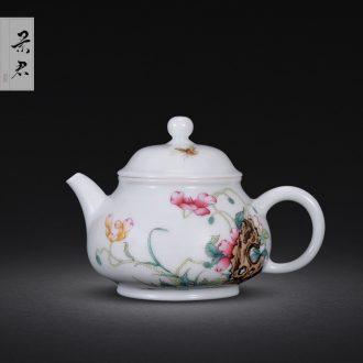 JingJun jingdezhen ceramics ji blue paint all hand three tureen kung fu tea bowl