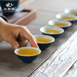 Three frequently hall jingdezhen ceramic cups master cup single cup kung fu tea set white porcelain tea cup sample tea cup S42102