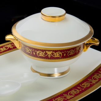 Industry - dishes chopsticks sets of household gifts Jingdezhen high-class european-style bone porcelain tableware suit 56 head of ceramics