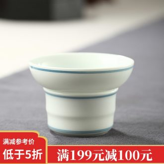 Drink to jingdezhen hand-painted blue and white porcelain tea sweet white filter) glass ceramic filter base kung fu tea set