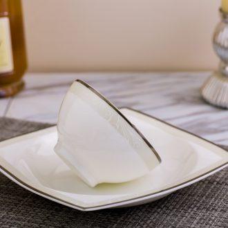 Far industry - european-style luxury bone porcelain tableware suit dishes suit Jingdezhen ceramic porcelain gifts blue dream