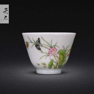 JingJun jingdezhen ceramics porcelain carving all hand painting of flowers and only three tureen kung fu tea bowl tea