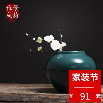 Jingdezhen ceramic new Chinese vase furnishing articles household act the role ofing is tasted the living room table decoration porcelain vase handicraft