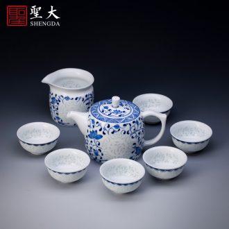 Santa jingdezhen ceramic tureen lid buy hand painted green Hualien disc all hand tea tea accessories cover lid