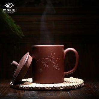 Three frequently pick flowers tureen tea cups Only three bowl of tea ware jingdezhen ceramic tea kungfu tea set S12031