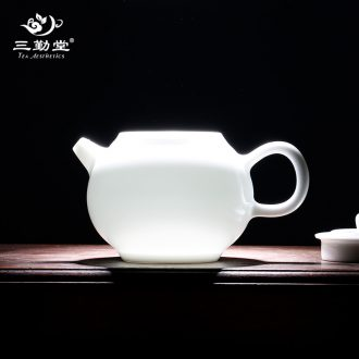 Three frequently hall office jingdezhen ceramic mug cup kung fu tea set S41119 fragrance-smelling cup big capacity