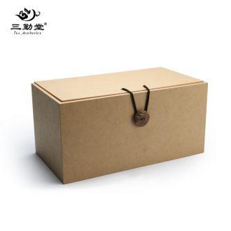 Three frequently hall tea caddy tea warehouse Ceramic large seal pot Jingdezhen kung fu tea tao child receives